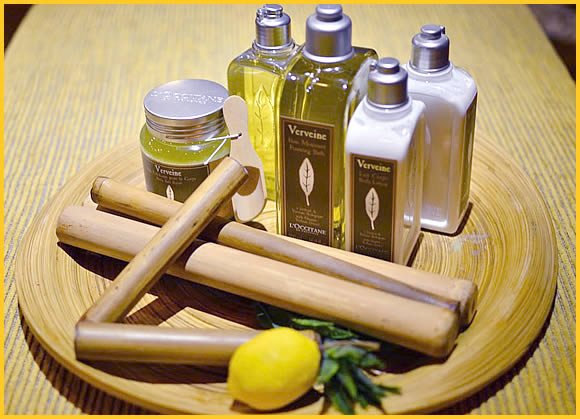 products at bamboo spa by L'OCCITANE
