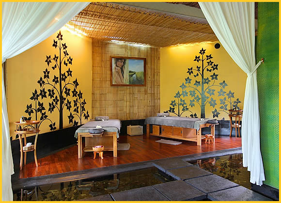 spa room at mango tree spa
